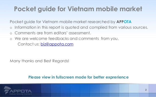 Pocket Guide for Vietnam Mobile Market Slide 2