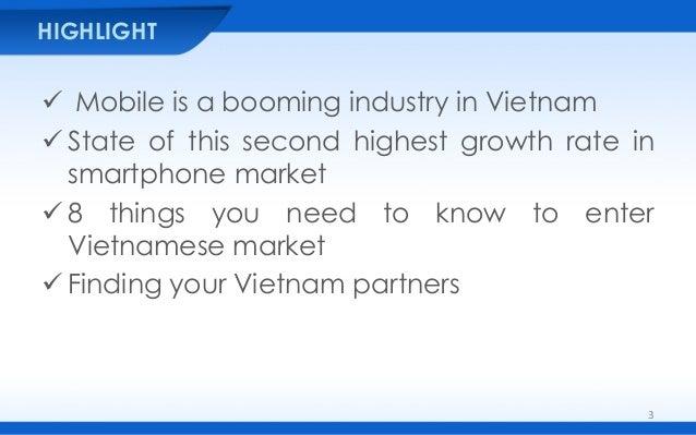 Pocket Guide for Vietnam Mobile Market Slide 3