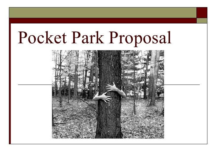 Pocket Park Proposal