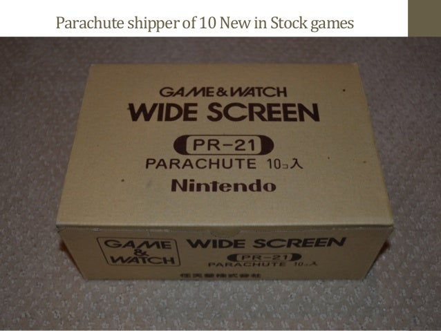Parachute  shipper  of  10  New  in  Stock  games