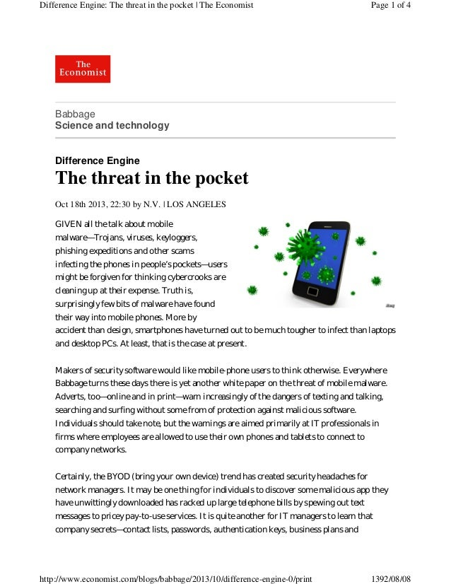 Difference Engine: The threat in the pocket | The Economist  Page 1 of 4  Babbage Science and technology  Difference Engin...