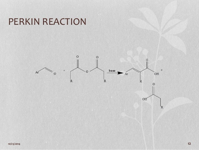 perkin reaction synthesis of phenylcinnamic acid Learn more about these metrics article views are the counter-compliant sum of full text article downloads since november 2008 (both pdf and html) across all institutions and individuals these metrics are regularly updated to reflect usage leading up to the last few days the altmetric attention score is a quantitative measure of the attention that a research article has received online.