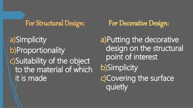 Principles Of Design Mesmerizing Definition Of Structural And Decorative Design