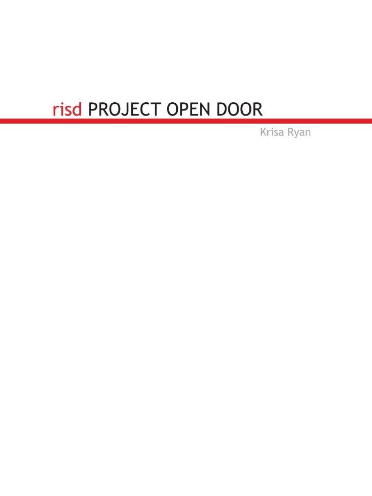 risd PROJECT OPEN DOOR                      Krisa Ryan