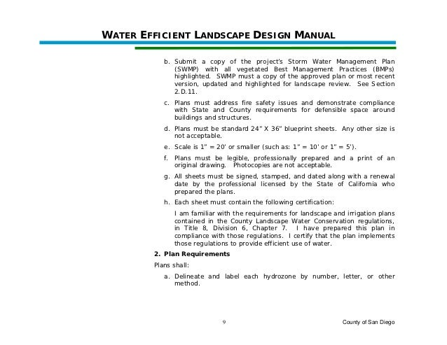 Water efficient landscape design manual county of san diego county of san diego 8 16 malvernweather Gallery