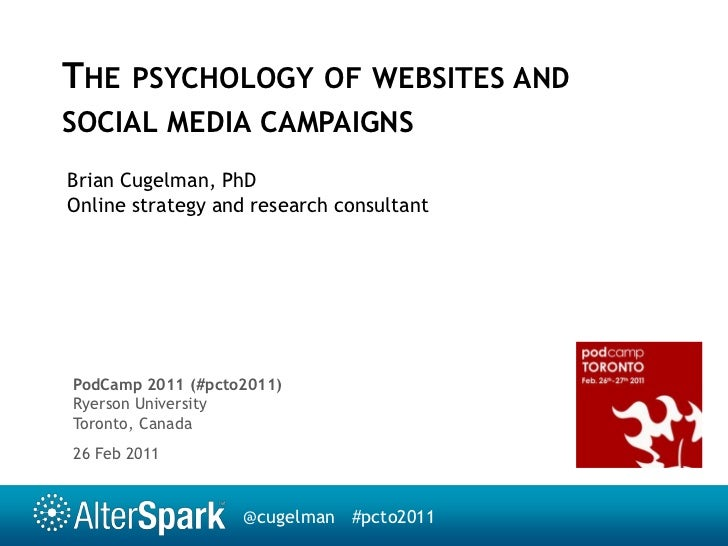 Psychology of websites and social media campaigns