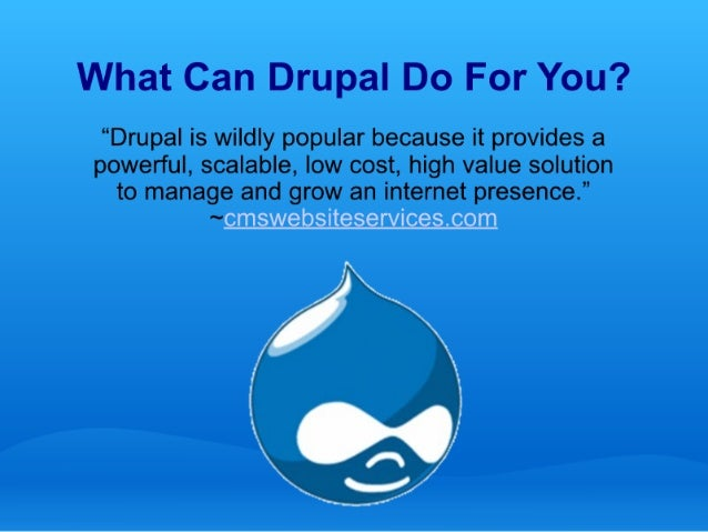 What Can Drupal Do For You?