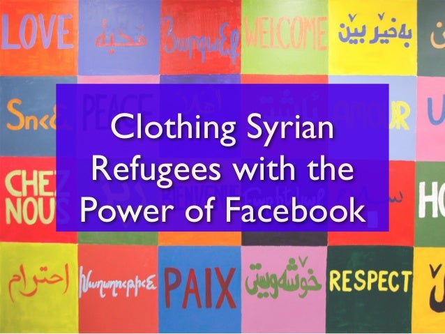 Clothing Syrian Refugees with the Power of Facebook