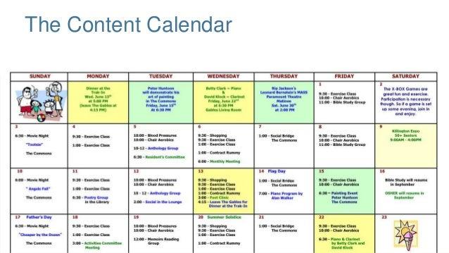 camp schedule template