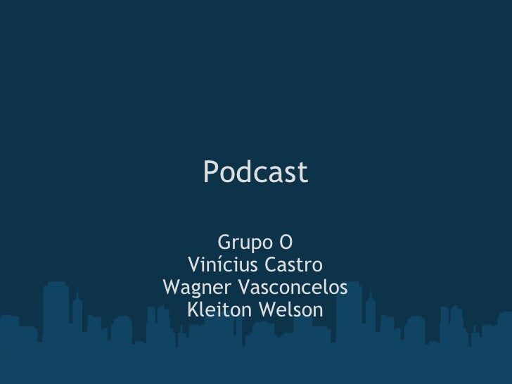Podcast Grupo O Vinícius Castro Wagner Vasconcelos Kleiton Welson