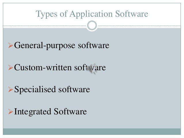 types of custom written software