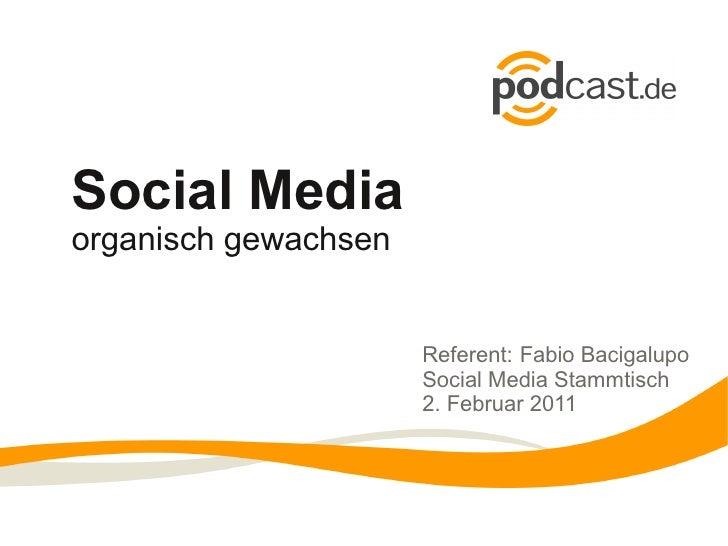 Social Mediaorganisch gewachsen                      Referent: Fabio Bacigalupo                      Social Media Stammtis...