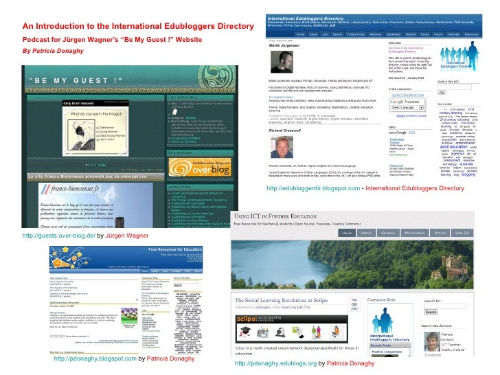 http://guests.over-blog.de /  by  Jürgen Wagner   An Introduction to the International Edubloggers Directory Podcast for  ...