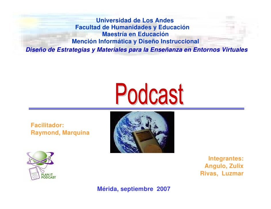 Universidad de Los Andes                 Facultad de Humanidades y Educación                          Maestría en Educació...