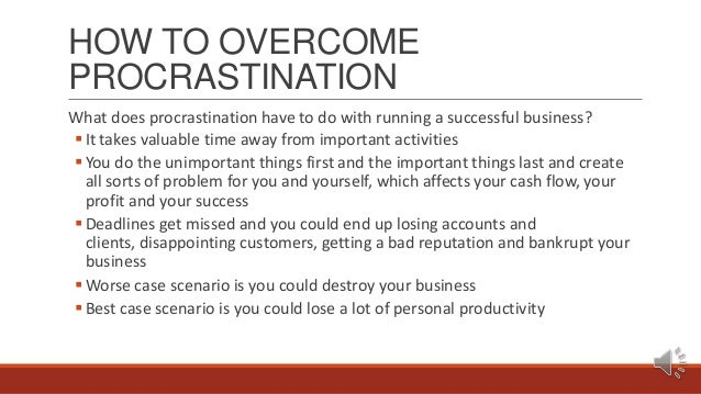 Podcast #1 How To Overcome Procrastination