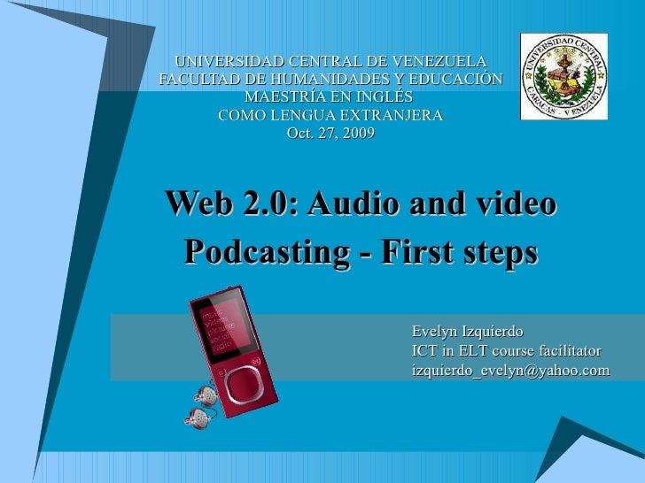 UNIVERSIDAD CENTRAL DE VENEZUELA FACULTAD DE HUMANIDADES Y EDUCACIÓN MAESTRÍA EN INGLÉS  COMO LENGUA EXTRANJERA Oct. 27, 2...