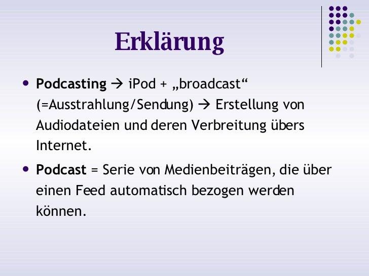 Podcasting =) Slide 2