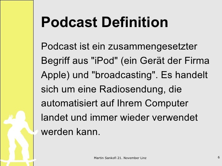 Podcasting im unterricht ph linz for Terris meaning