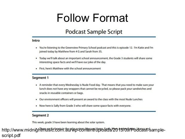 Podcasting interview for Podcast script template
