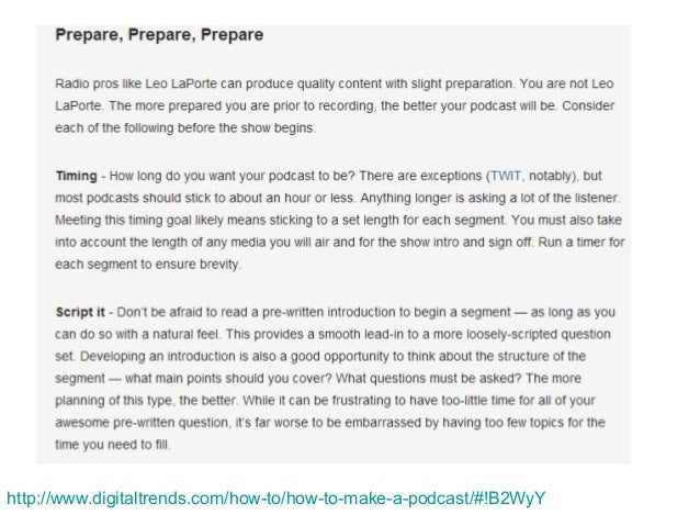 Podcasting interview