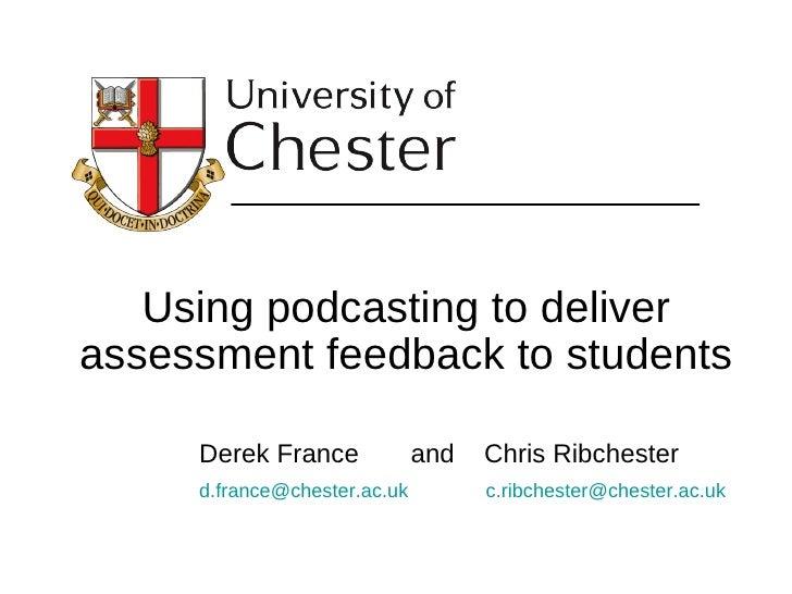 Podcasting   ppp 08 - Derek France - Chester 08