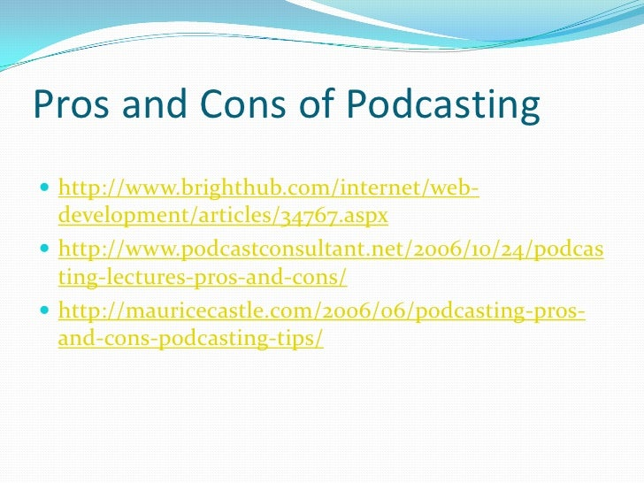 At A Glance: 7 Benefits of Podcasting