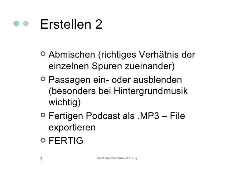 Podcasts Mit Audacity Slide 3