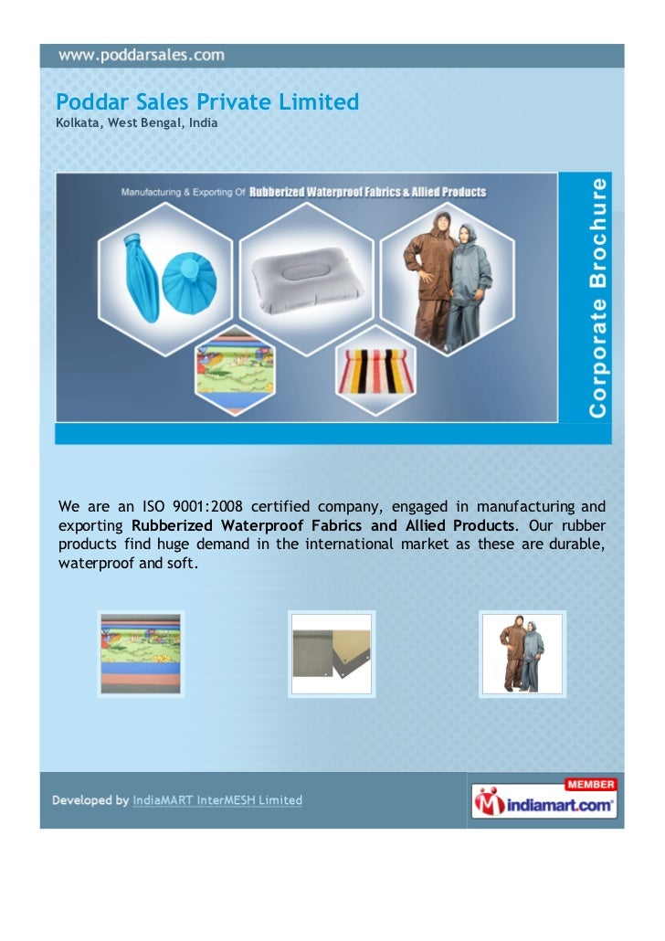 Poddar Sales Private LimitedKolkata, West Bengal, IndiaWe are an ISO 9001:2008 certified company, engaged in manufacturing...