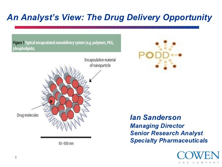 An Analyst's View: The Drug Delivery Opportunity                            Ian Sanderson                            Manag...
