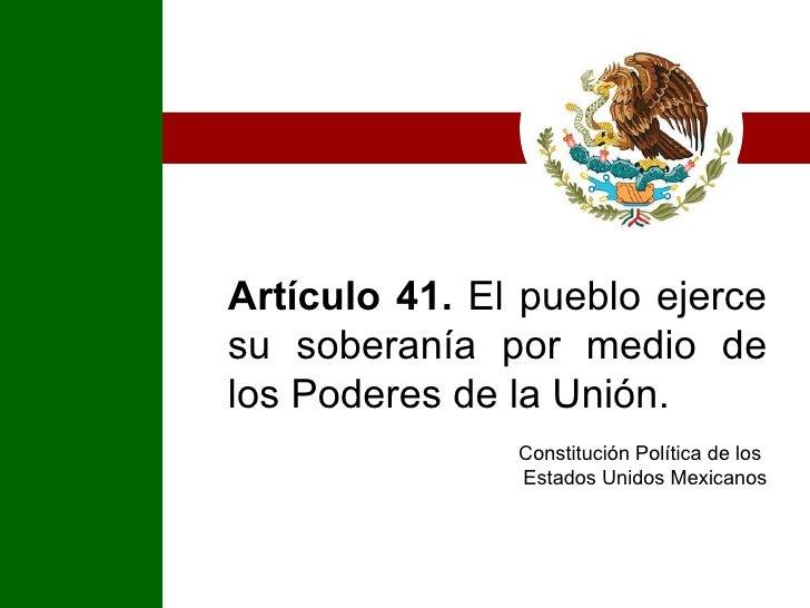 Poderes de la Unión  Slide 2