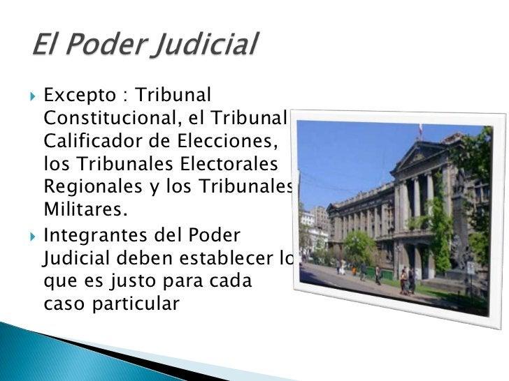   Excepto : Tribunal    Constitucional, el Tribunal    Calificador de Elecciones,    los Tribunales Electorales    Regio...
