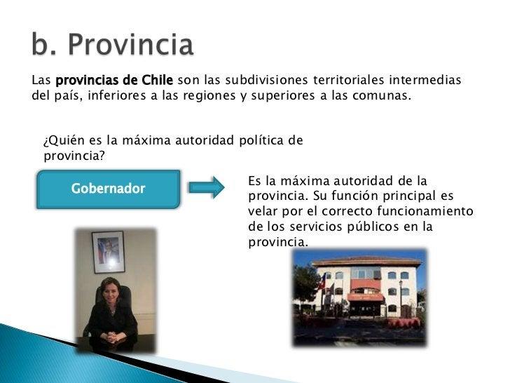 Las provincias de Chile son las subdivisiones territoriales intermediasdel país, inferiores a las regiones y superiores a ...