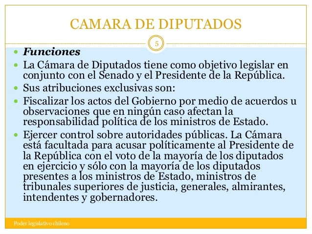 Poder legislativo chileno for La camara de senadores