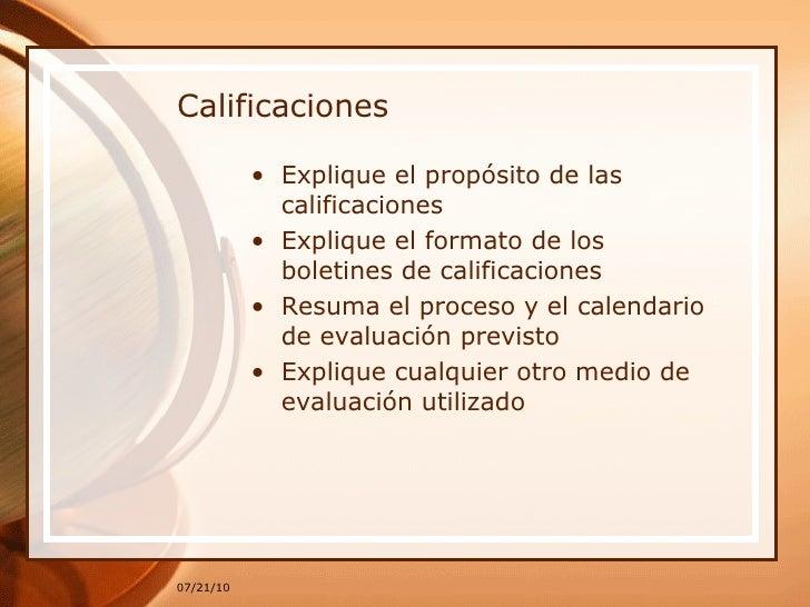 Calificaciones <ul><li>Explique el propósito de las calificaciones </li></ul><ul><li>Explique el formato de los boletines ...