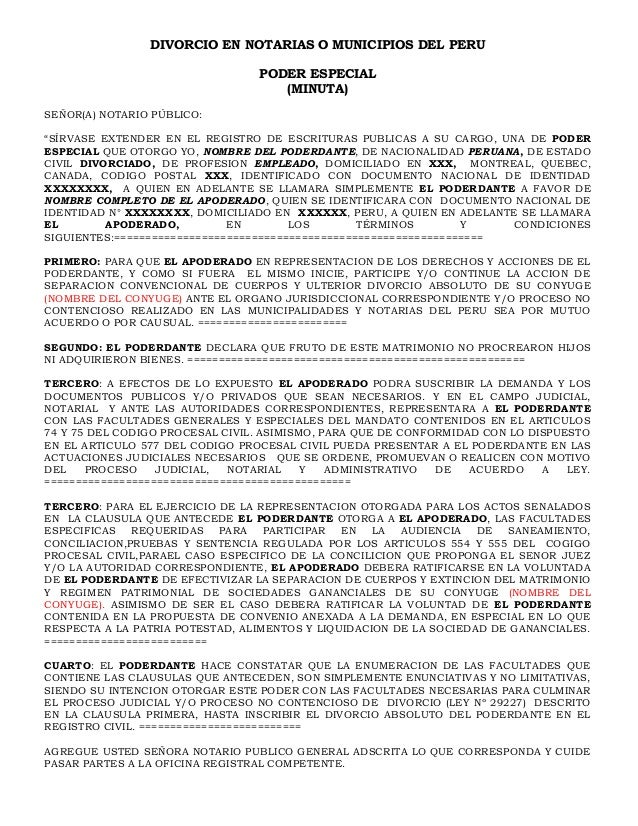 Divorcio Matrimonio Catolico Ante Notario : Poder para divorcio notarial