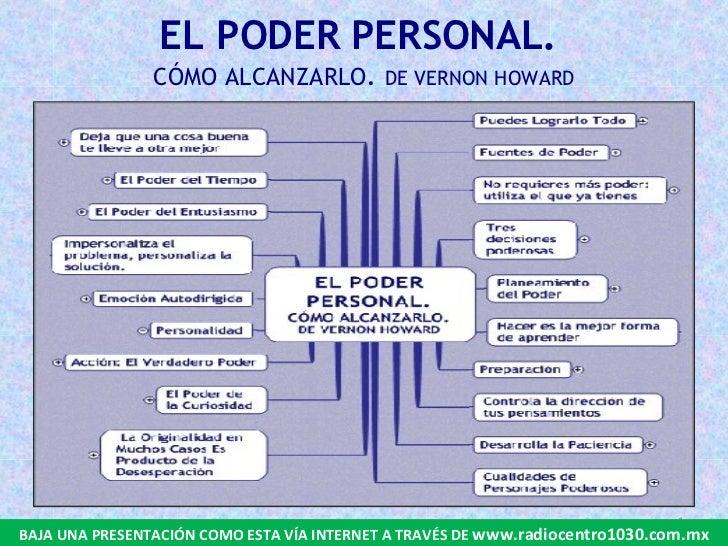 EL PODER PERSONAL.  CÓMO ALCANZARLO .  DE VERNON HOWARD BAJA UNA PRESENTACIÓN COMO ESTA VÍA INTERNET A TRAVÉS DE  www.radi...