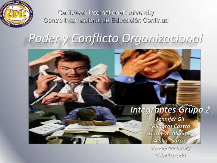 Poder y Conflicto Organizacional
