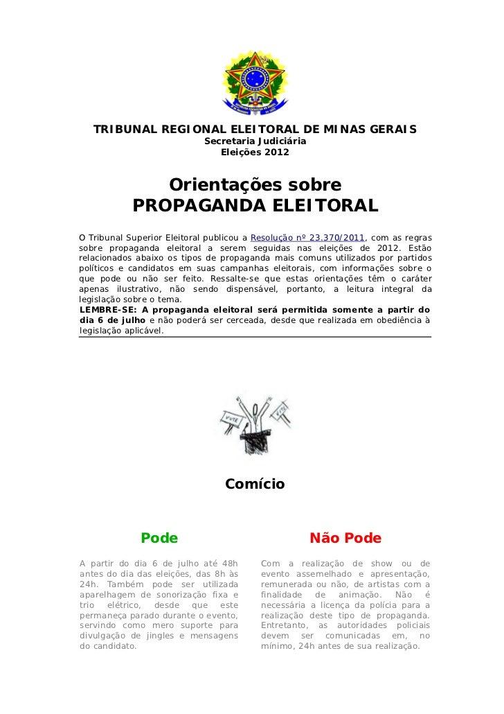 TRIBUNAL REGIONAL ELEITORAL DE MINAS GERAIS                            Secretaria Judiciária                              ...