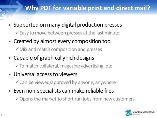 Better ways to make PDF and PDF/VT for direct mailing Slide 3