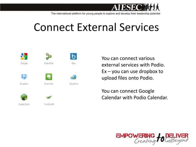 Make Webforms           With Podio you can make           web forms where           external can enter data.           Lik...