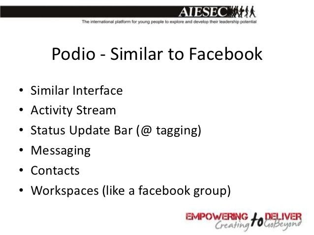 Team Workspaces on Podio           With Podio you can make separate           workspaces for every department,           w...