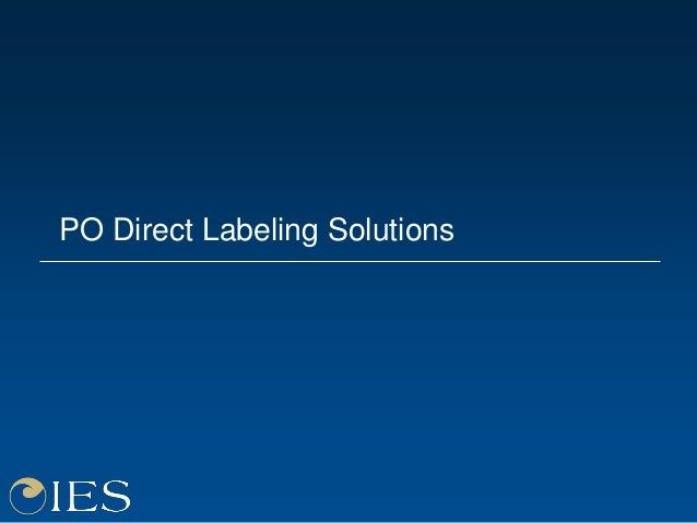 PO Direct Labeling Solutions