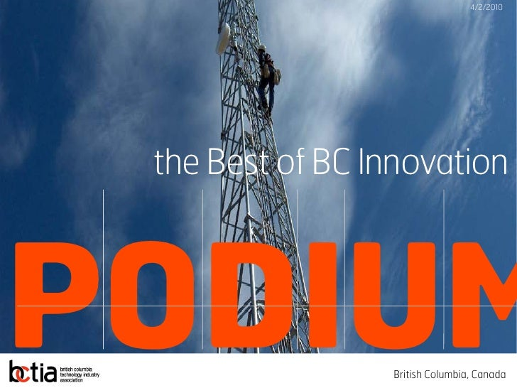 PODIUM - Best of BC Innovation - Feb 2010