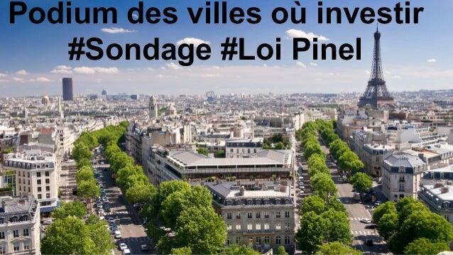 Podium des villes où investir #Sondage #Loi Pinel