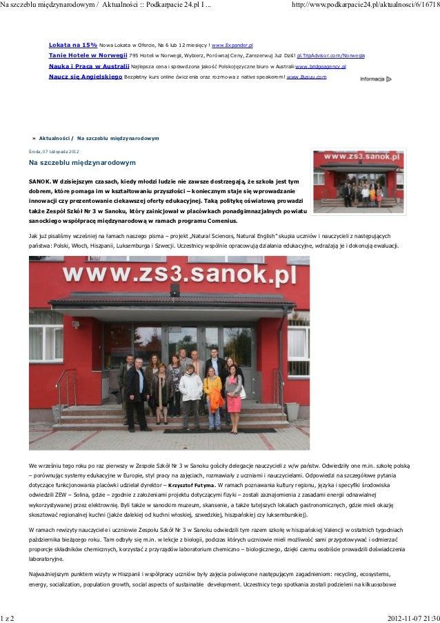 Na szczeblu międzynarodowym / Aktualności :: Podkarpacie 24.pl I ...                                             http://ww...