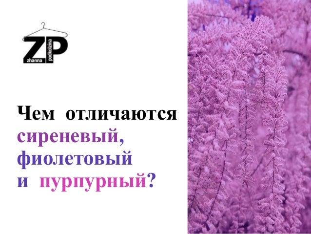 Чем отличаются сиреневый, фиолетовый и пурпурный?