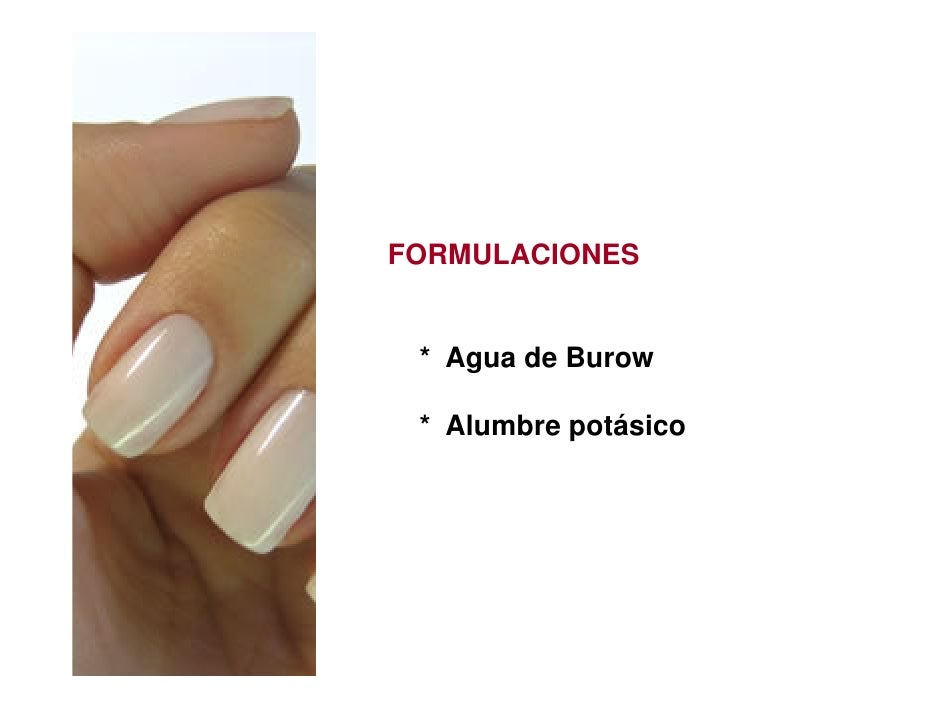 FORMULACIONES * Agua de Burow * Alumbre potásico