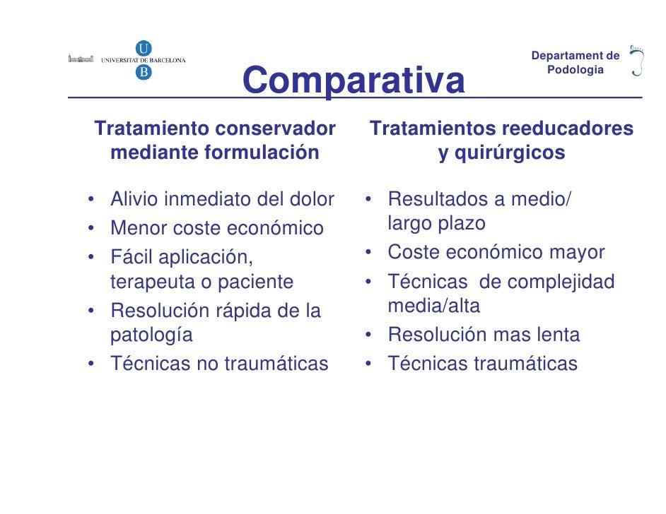 Departament de                 Comparativa                                                 PodologiaTratamiento conservado...