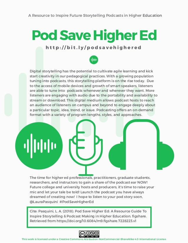 A Resource to Inspire Future Storytelling Podcasts in Higher Education This work is licensed under a Creative Commons Attr...