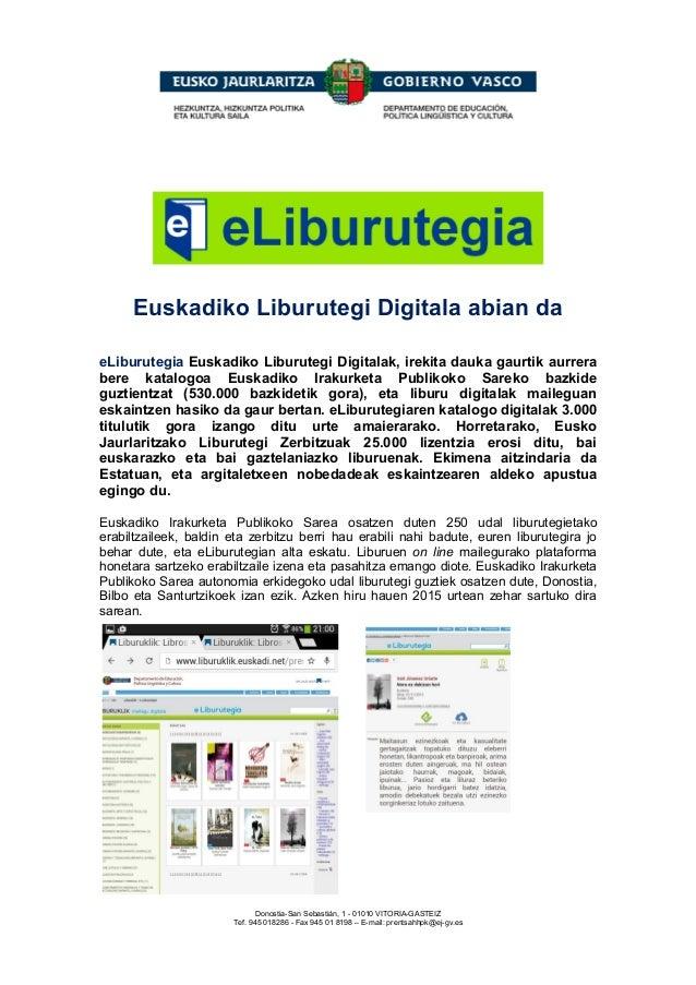 Euskadiko Liburutegi Digitala abian da